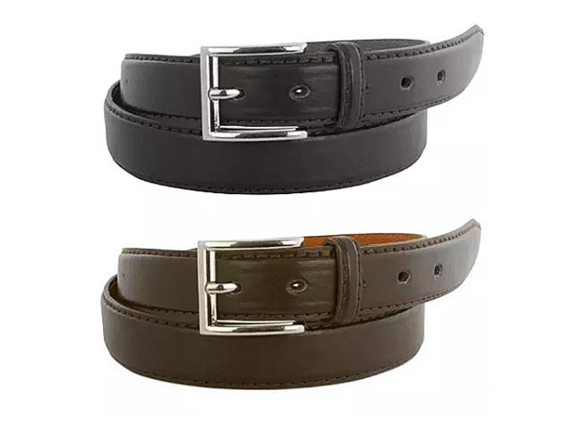 Royal Boudoir Men's Black & Brown Leather Belts: 2-Pack