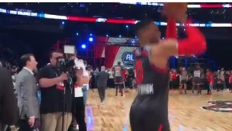 Russell Westbrook Ditched His Team And Warmed Up On Opposite End Of Court Away From Kevin Durant Before All-Star Game