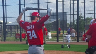 Hell Yea, Bryce Harper Has A Barbed Wire Bat