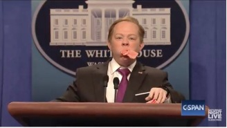 Melissa McCarthy Returns To 'SNL' As Sean Spicer And It's Laugh Out Loud Funny