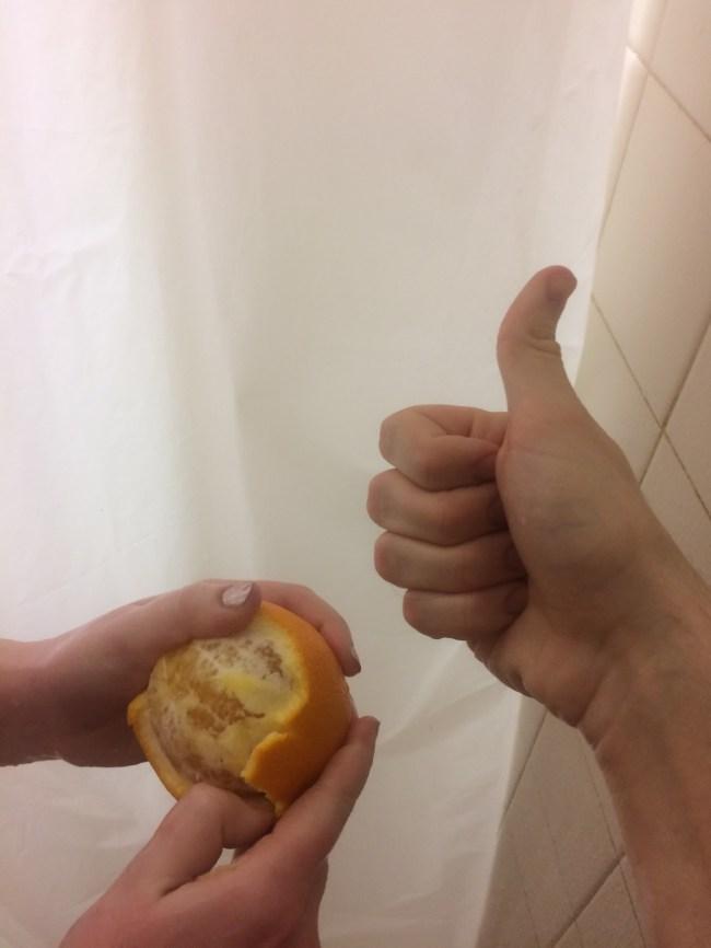shower orange