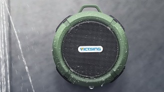 VicTsing Waterproof Bluetooth Speaker Is Perfect For The Beach Or The Shower
