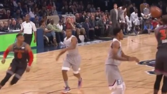 Kevin Durant And Russell Westbrook Team Up For Alley-Oop At All-Star Game And Celebrate With Each Other On The Sidelines