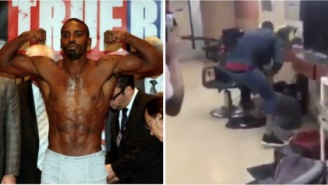 Gay Porn Boxer Yusaf Mack OBLITERATES A Homophobic Troll At A Barber Shop Who Has Been Bullying Him Online (VIDEO)