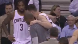 Andrew Bogut Breaks His Leg Two Minutes Into His Debut With The Cleveland Cavaliers