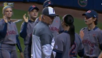 Auburn Softball Player Gets Into Heated Exchange With Florida Coach After He Shoved Her