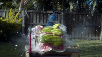 Dude Drops A Watermelon Onto 20,000-Volt Capacitor To Prove That SCIENCE IS BADASS