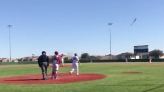 This High Schooler's Cartoonish Bat Flip Is The Baseball Equivalent Of Sexing The Pitcher's Mom