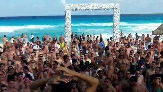 Tone-Deaf Spring Breakers Chant 'Build That Wall' While Partying In Mexico