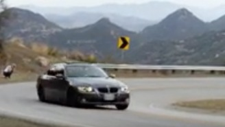 Dude Showing Off His Brand New BMW Probably Regrets Taking This Turn And Totaling The F*ck Out Of It