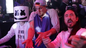 Gronk Is Just DESTROYING South Beach, Taking Over DJ Booths And Dancing Shirtless In Clubs