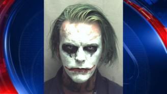 Guy With A Sword And Dressed As The Joker Is The Early Leader For Creepiest Mugshot Of The Year