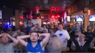 Here's More Video Of Kentucky Fans Getting Their Hearts Broken While Watching UNC Game-Winner