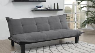 LIMITED TIME ONLY 41% OFF: Get This Best-Selling Microfiber Futon For Under $100!!!