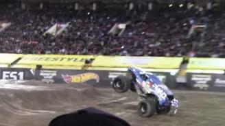 Monster Truck Pulls Off Front Flip In Las Vegas, Crowd Goes Nuts