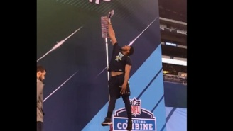 Potential #1 Pick Myles Garrett Put Up A 41″ Vert At The NFL Combine And NFL Twitter Lost Its Mind