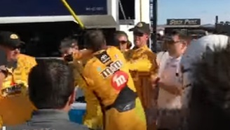 NASCAR FIGHT! Kyle Busch Gets Bloodied In Post-Fight Brawl With Joey Logano At Kobalt 400
