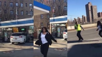 NYC Woman Crashes Car Through Gas Station Windows, Goes POSTAL On People Filming