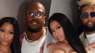 OBJ And Von Miller Spotted Hanging With Nicki Minaj And Her Physics-Defying Outfit In Paris
