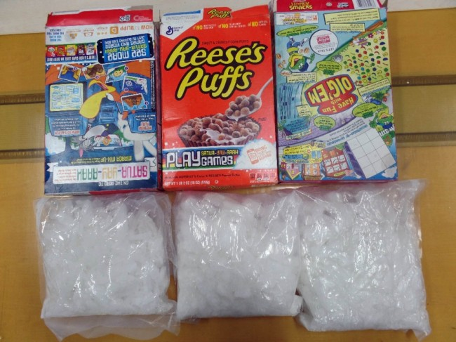 soldiers smuggling meth in cereal boxes