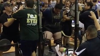 Watch The Strongest High School Football Player In The Nation Squat A Bar-Bending 1,050 Pounds