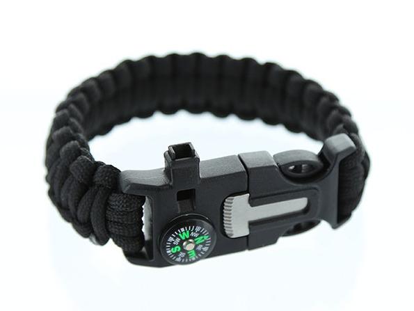 5-in-1 Survival Flint Fire Starter Bracelet