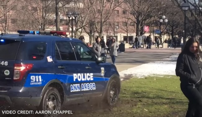 University of Michigan Police Campus Chase