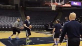 At 40, Vince Carter Still Warms Up By Draining A Half-Court Shot And 360 Dunk