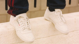 You'll Never Believe How Much Money Plain White Adidas Yeezy 'Calabasas' Sneakers Are Reselling For On Ebay