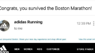 People Are Pissed At Adidas Over Email Congratulating Runners For 'Surviving' Boston Marathon