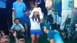 BBC's Peter Alliss Gets Caught By Hot Mic Commenting On Sergio Garcia's Fiancee's Short Skirt At The Masters