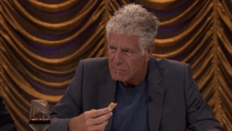 Anthony Bourdain And Sienna Miller Play 'Secret Ingredient', Try To Guess What's In Their Food