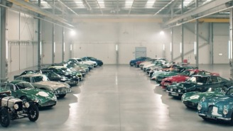 Here's $84 Million Worth Of Aston Martin Cars Doing Donuts Inside A Secret Warehouse