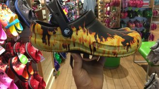 Are These Guy Fieri-Style Flame Crocs The Hottest Party Shoes Of The Summer?