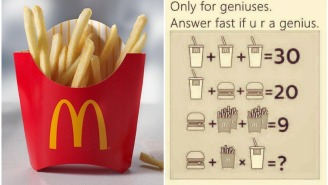 The Internet Is Losing Its Mind Over This McDonald's Algebra Problem