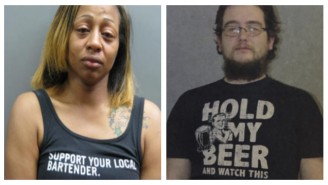Better DUI Shirt: Mom With 'Support Your Local Bartender' Or Man With 'Hold My Beer' Shirt