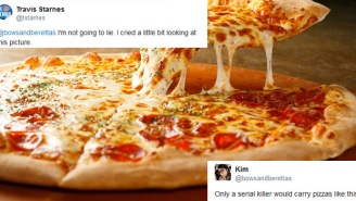 The Internet Cannot Believe How This Guy Carries His Pizza Because It's Completely Psycho