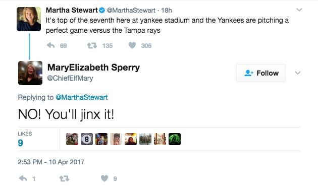 Martha Stewart Jinxed Yankees Perfect Game
