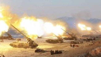VIDEO: North Korea's Live-Fire Artillery Drills Erupt As U.S. Nuclear Sub Arrives In South Korea