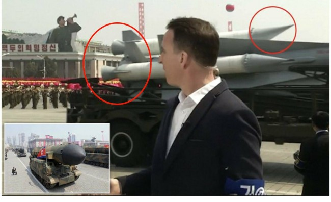 north korea fake missiles