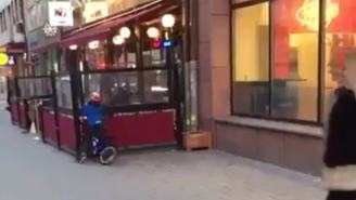 Video Of The Week: Kid Bicycling Into Wall Because He Was Staring At Strip Club Ad