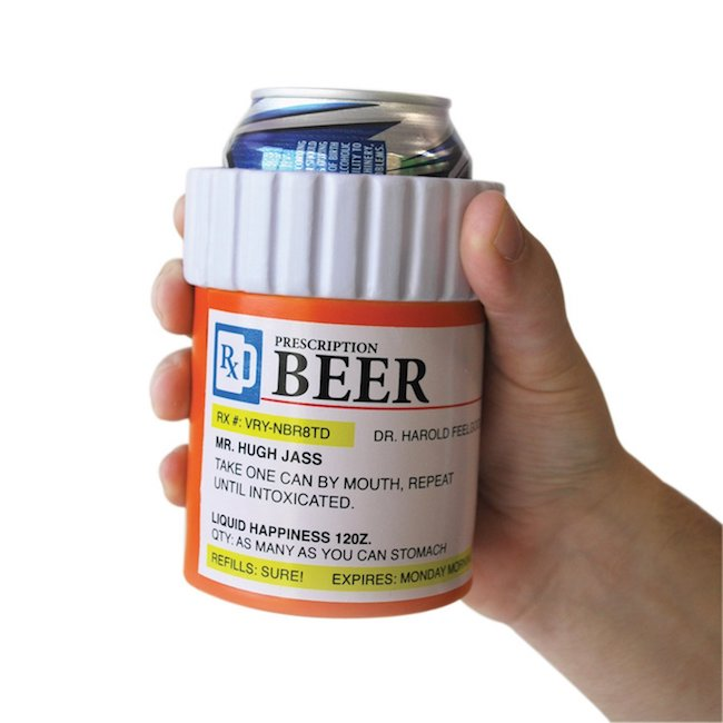prescription bottle beer koozie