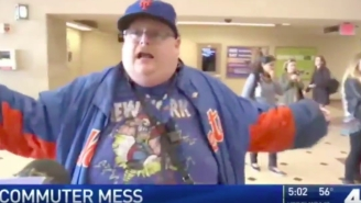 New York Mets Fan Has Meltdown On TV When New Jersey Transit Train Delays Cause Him To Miss Opening Day