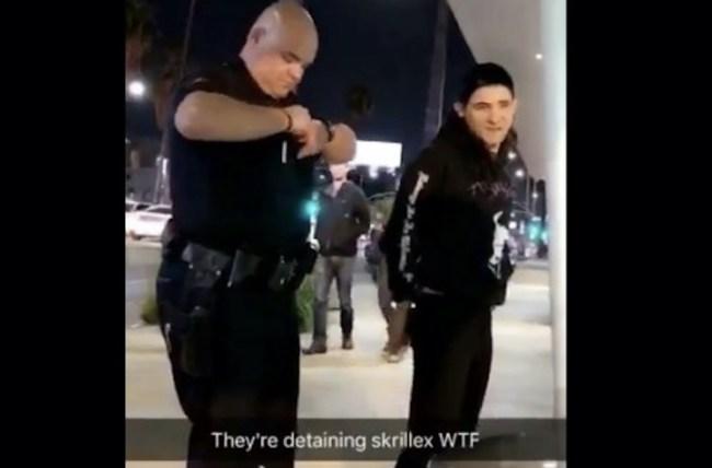 Skrillex Handcuffed