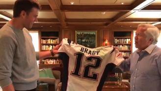 Watch Robert Kraft Return Stolen Super Bowl Jerseys To Tom Brady