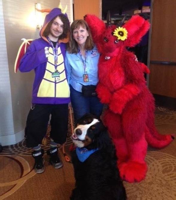 Retired Woman Brings Therapy Dog To FurryCon