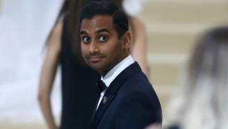 Aziz Ansari's Reaction To Rihanna And Lupita Nyong'o Taking A Selfie At The Met Gala Was PRICELESS