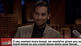 Aziz Ansari Dramatically Reading Crappy Yelp Reviews Is Just What The Doctor Ordered