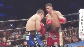 Boxer David Benavidez Knocked Opponent Out Of The Ring With An Insanely Impressive Combo