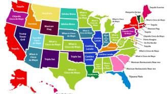 U.S. Map Shows What Every State Googles The Most On Cinco de Mayo